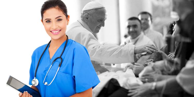 enfermeira e Papa Francisco