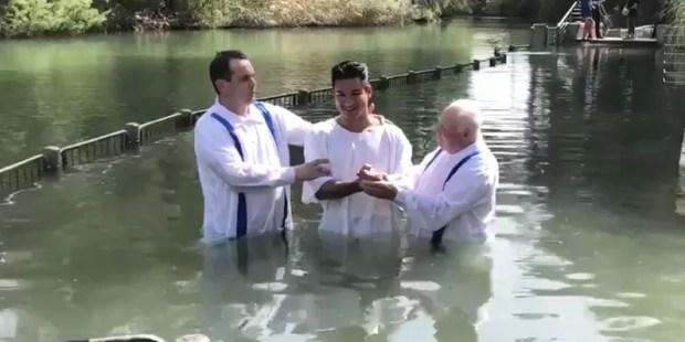 MARIO LOPEZ,BAPTISM