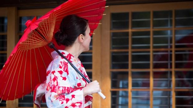 JAPAN, WOMAN, UMBRELLA