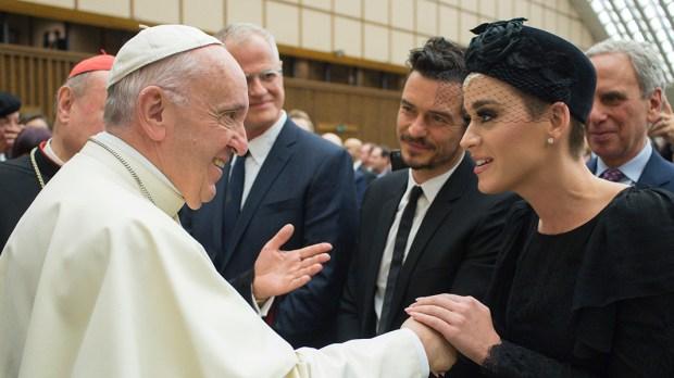 POPE FRANCIS KATY PERRY ORLANDO BLUM