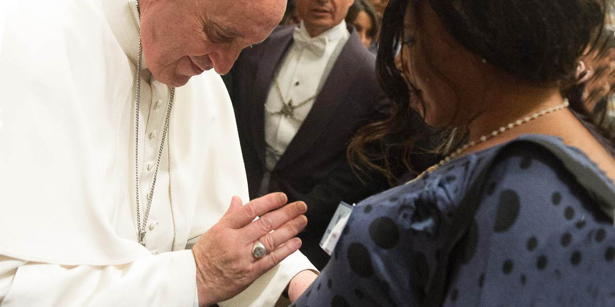POPE FRANCIS BLESSING UNBORN CHILD