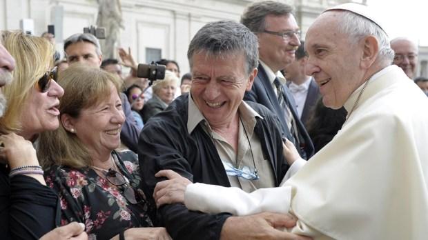 POPE FRANCIS MEETS JORGE MILIA
