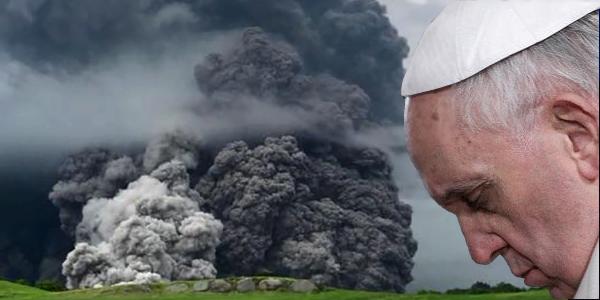 Papa Francisco vulcão de Fogo Guatemala