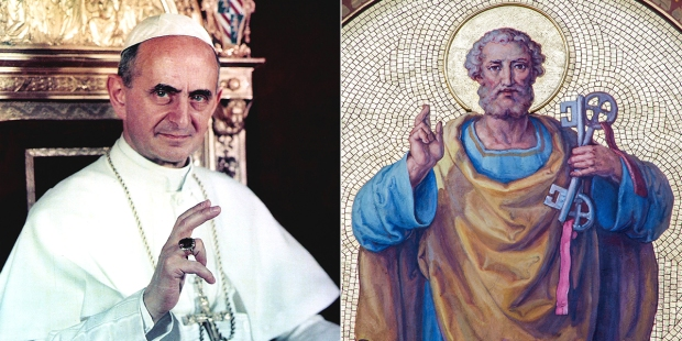 POPE PAUL VI ST. PETER THE APOSTLE