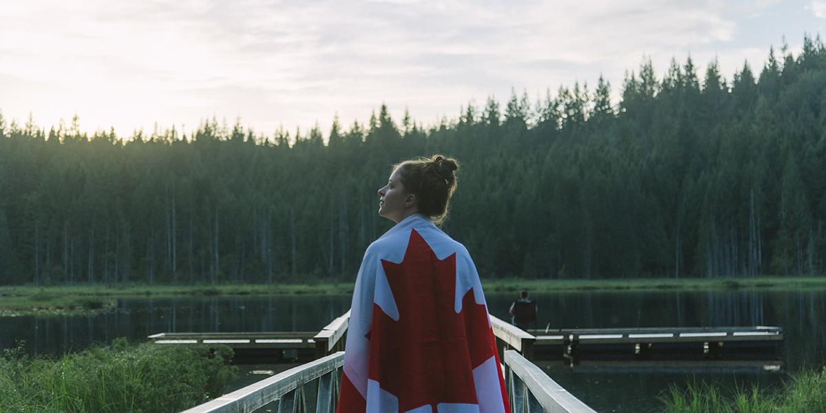 GIRL CANADA FLAG