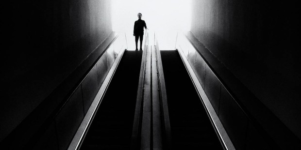 MAN,DARKNESS,STAIRS