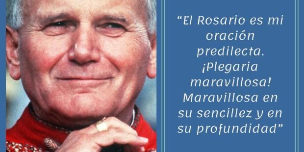 20 Frases de san Juan Pablo II sobre el Rosario