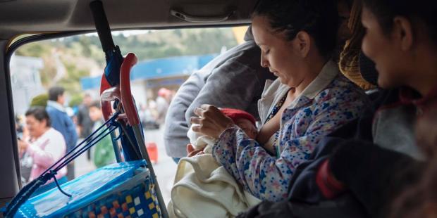 Niños migrantes en Ecuador