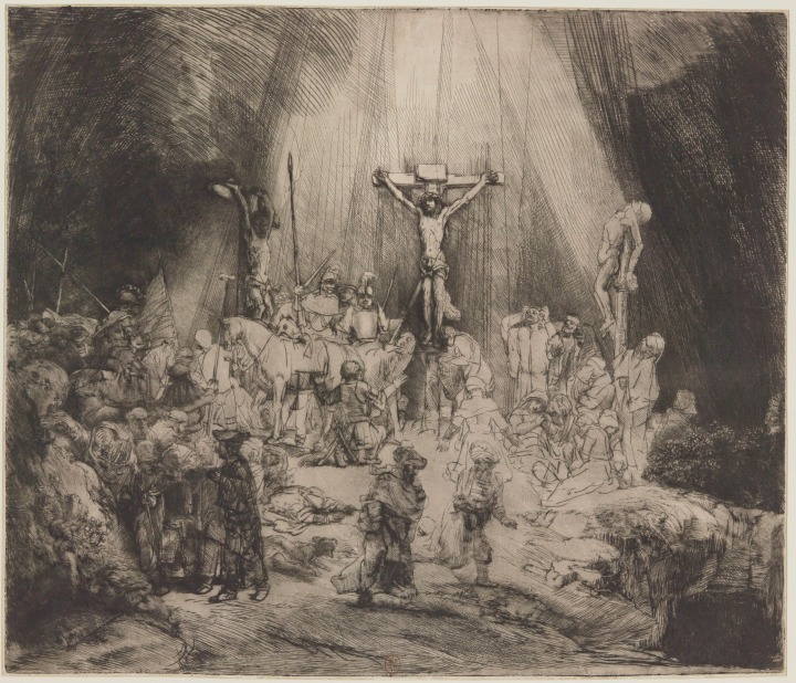CHRIST CRUCIFIED BETWEEN THE TWO THIEVES, THE THREE CROSSES