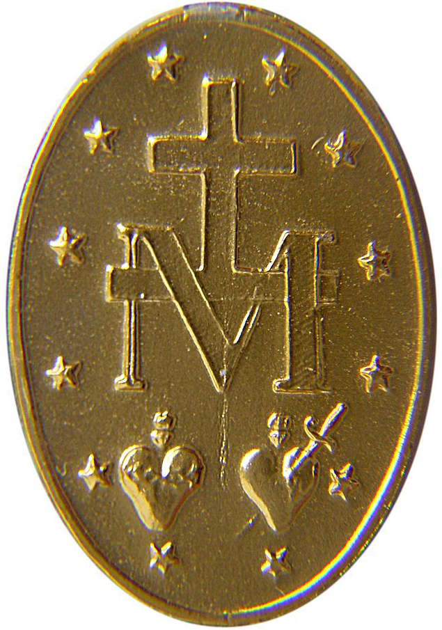 MIRACULOUS MEDAL REVERSE SIDE