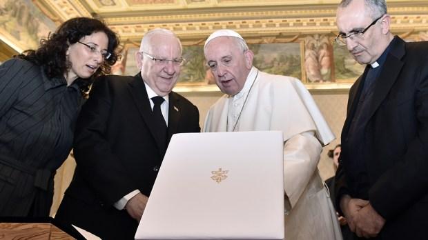POPE FRANCIS REUVEN RIVLIN