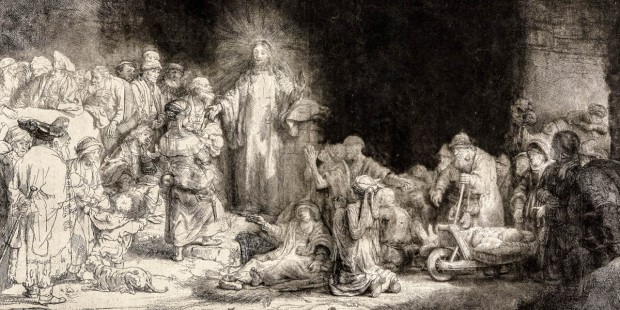 CHRIST PREACHING,REMBRANDT VAN RIJN