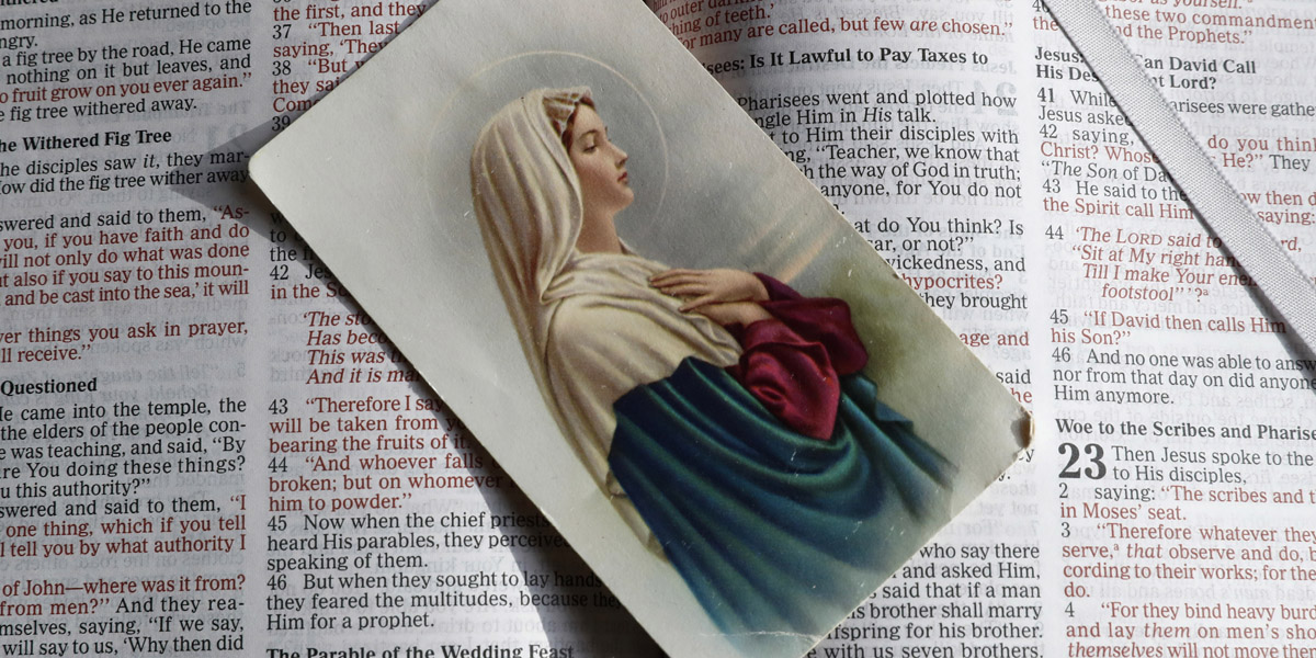 VIRGIN,MARY,PRAYER,CARD