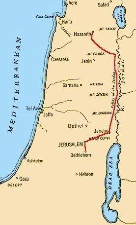 ROAD FROM NAZARETH TO JERUSALEM