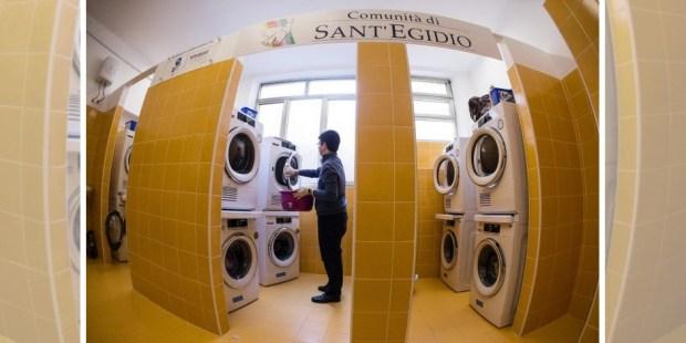 lavanderia roma papa francisco