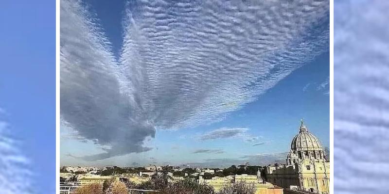 pareidolia nuvem pomba Jerusalém