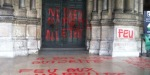 vandalised church