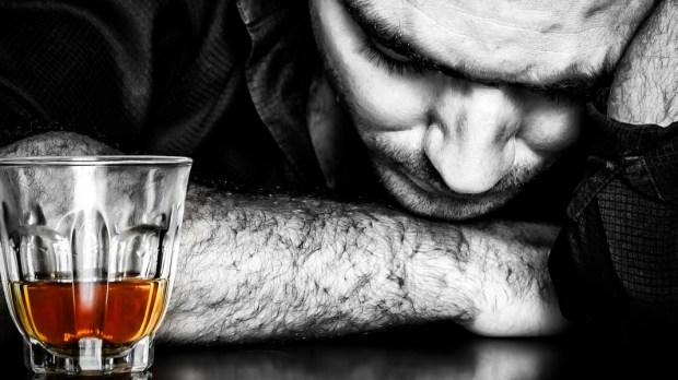 ALCOHOLISM, MAN, DRUNKEN