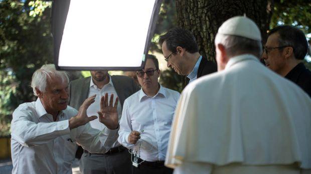 Filmación del vídeo del Papa de septiembre
