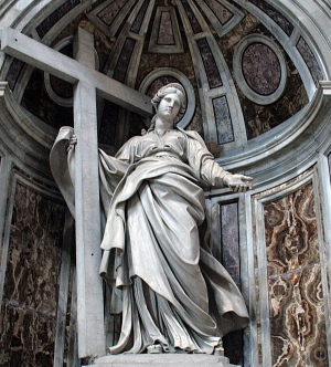 Estatua de Santa Elena, en la Basílica de San Pedro