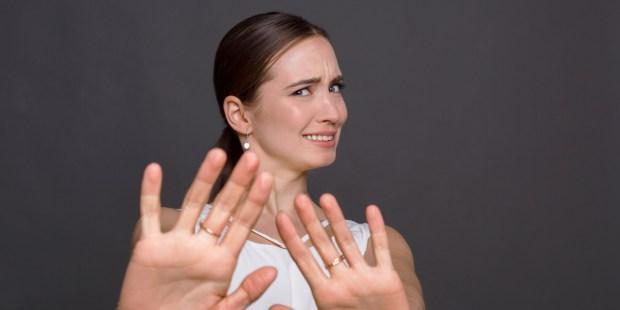 woman saying no