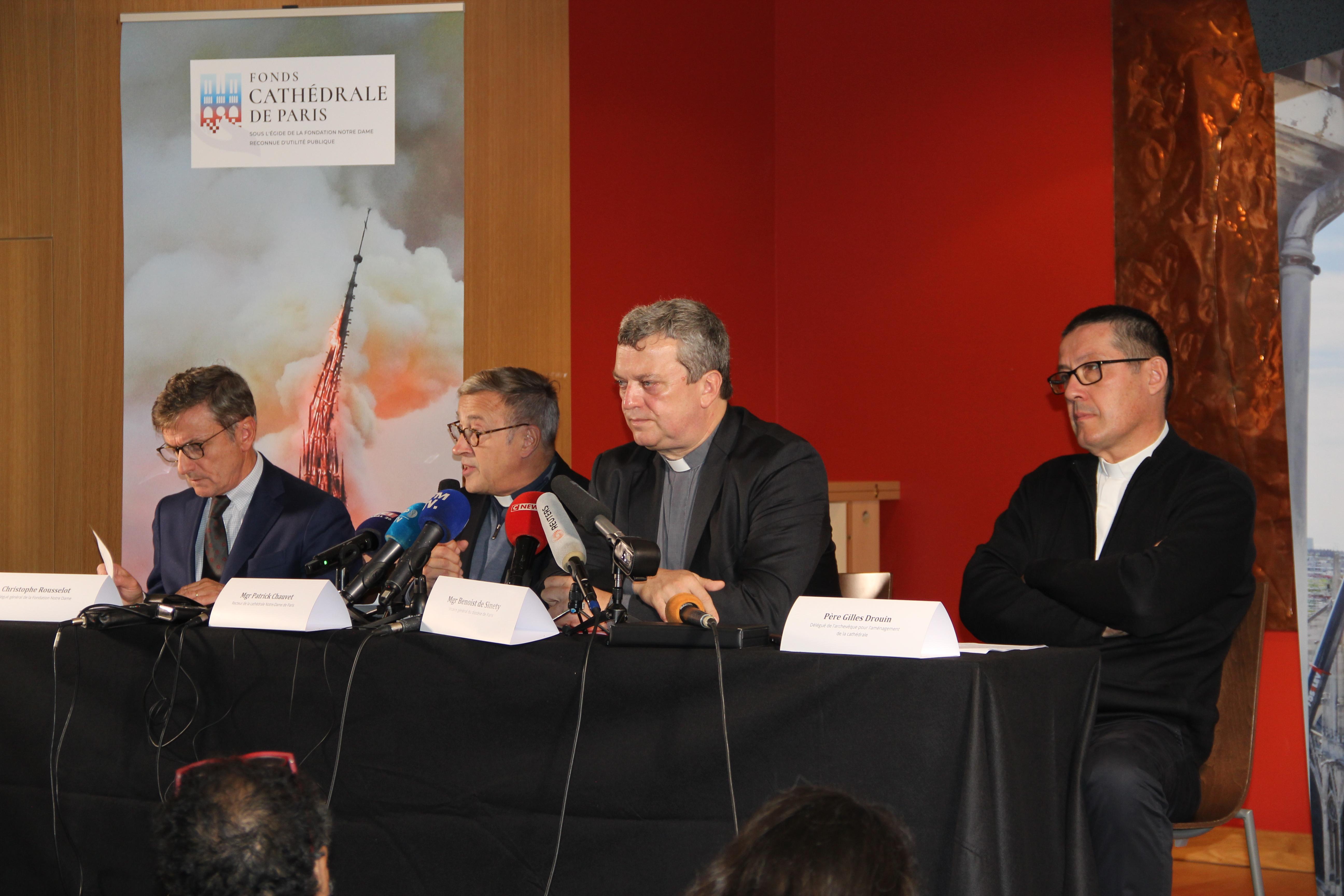 Conférence de presse Notre-Dame