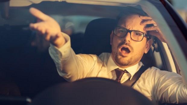 Angry - Businessman- Car
