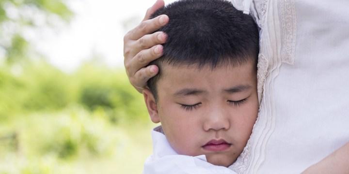 caressing child