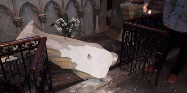 Virgin Mary vandalised
