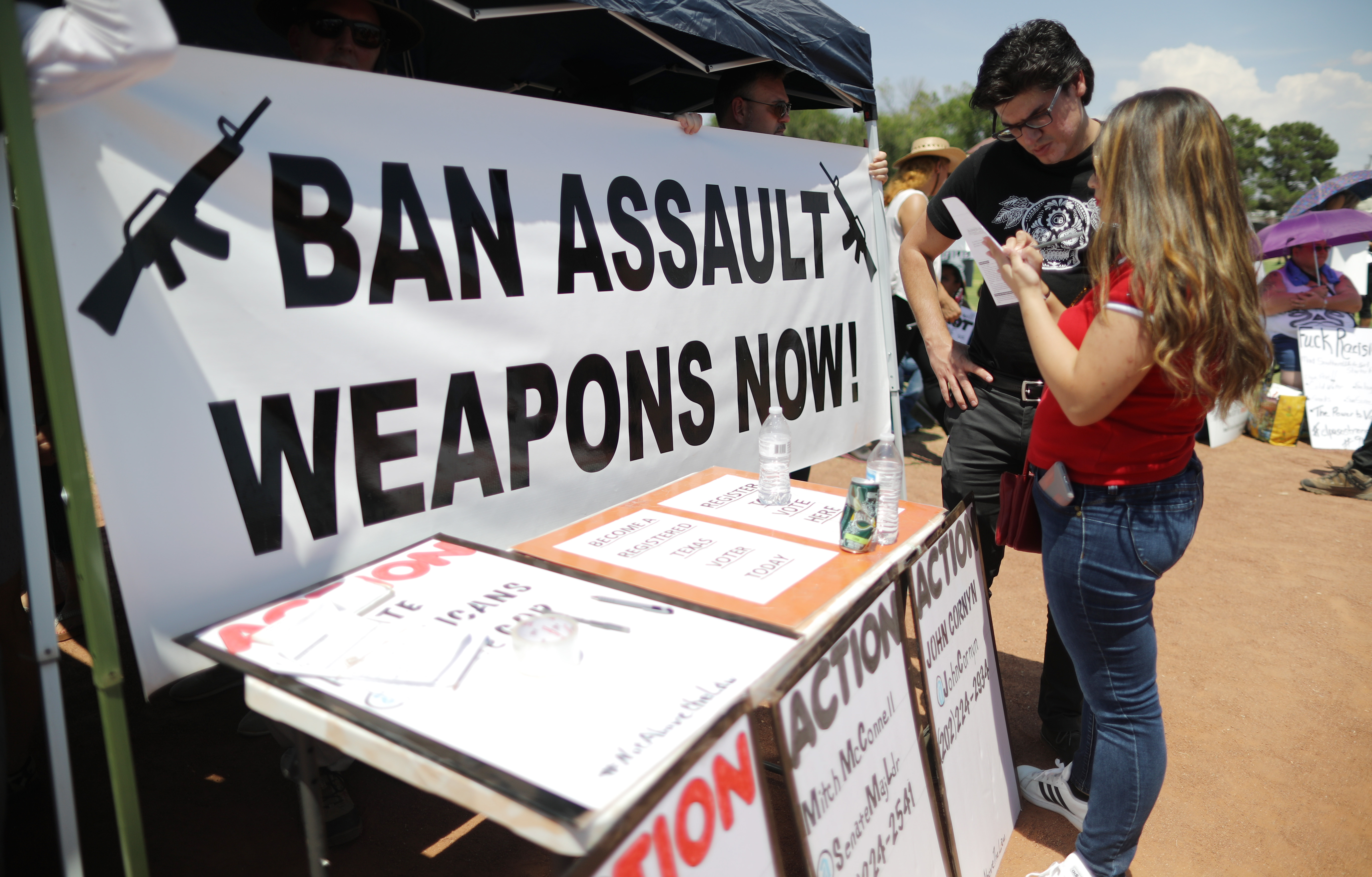 ban weapons texas