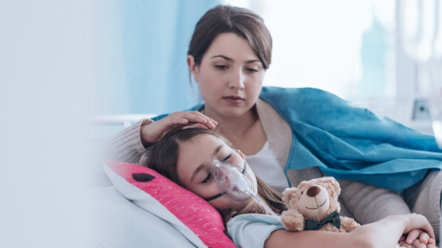 Mother, Child, Sick, Hospital,