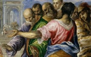 Detalle de La curación del ciego de El Greco (año 1567, The Metropolitan Museum of Art, Nueva York)