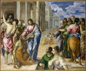 La curación del ciego de El Greco (año 1567, The Metropolitan Museum of Art, Nueva York)