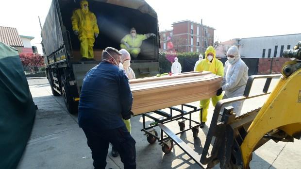 coffins army bergamo