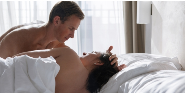 COUPLE, BED, LOVE