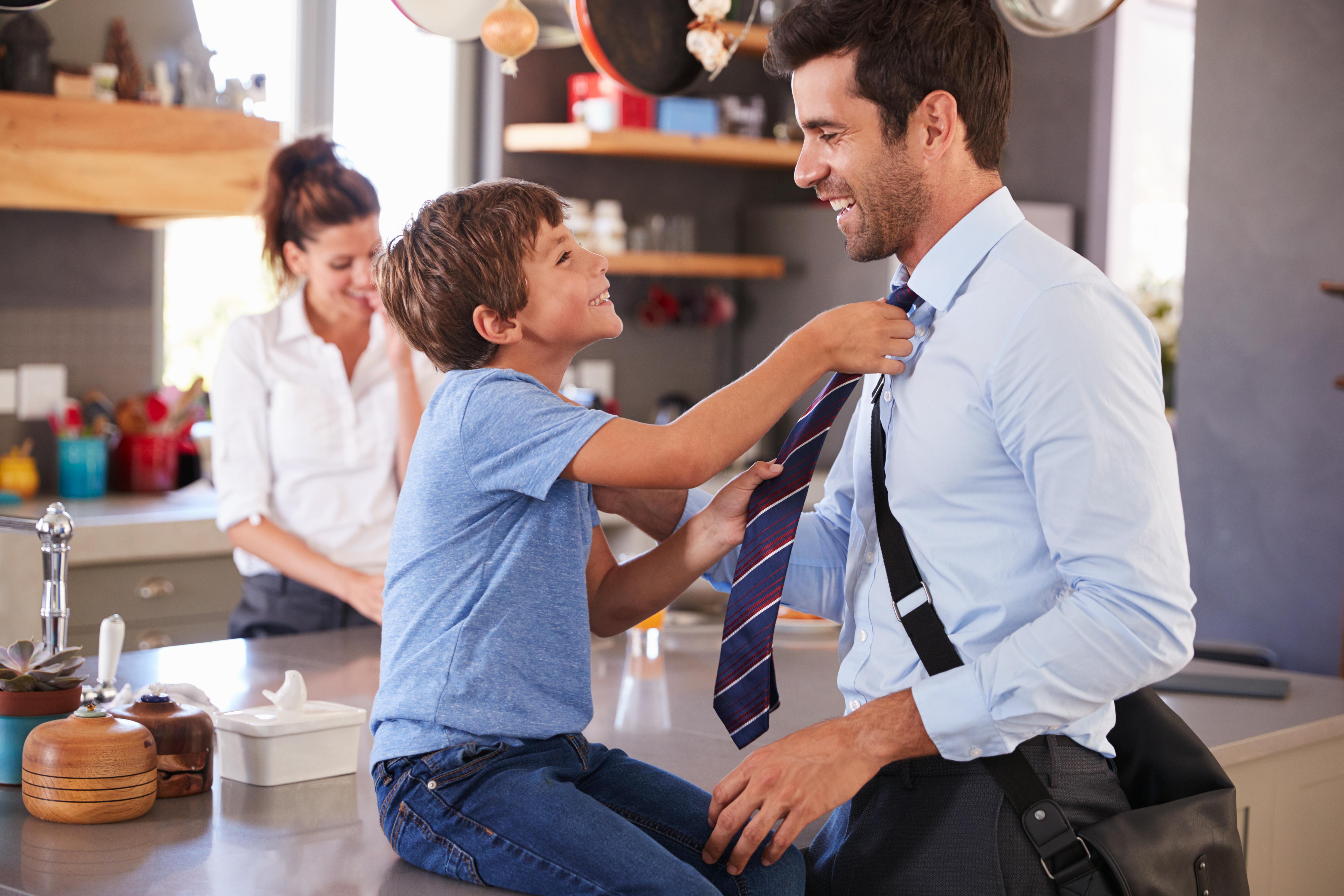 Father; Son; Goodbye ; Work;