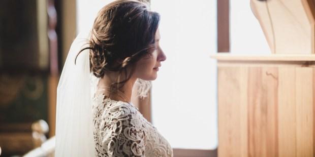 BRIDE, ALONE, CHURCH