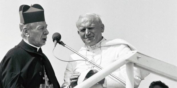 Cardenal Wyszyński y Juan Pablo II