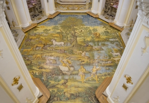 ANACAPRI;CHURCH OF ST MICHAEL THE ARCHANGEL; MOSAIC;MAJOLICA