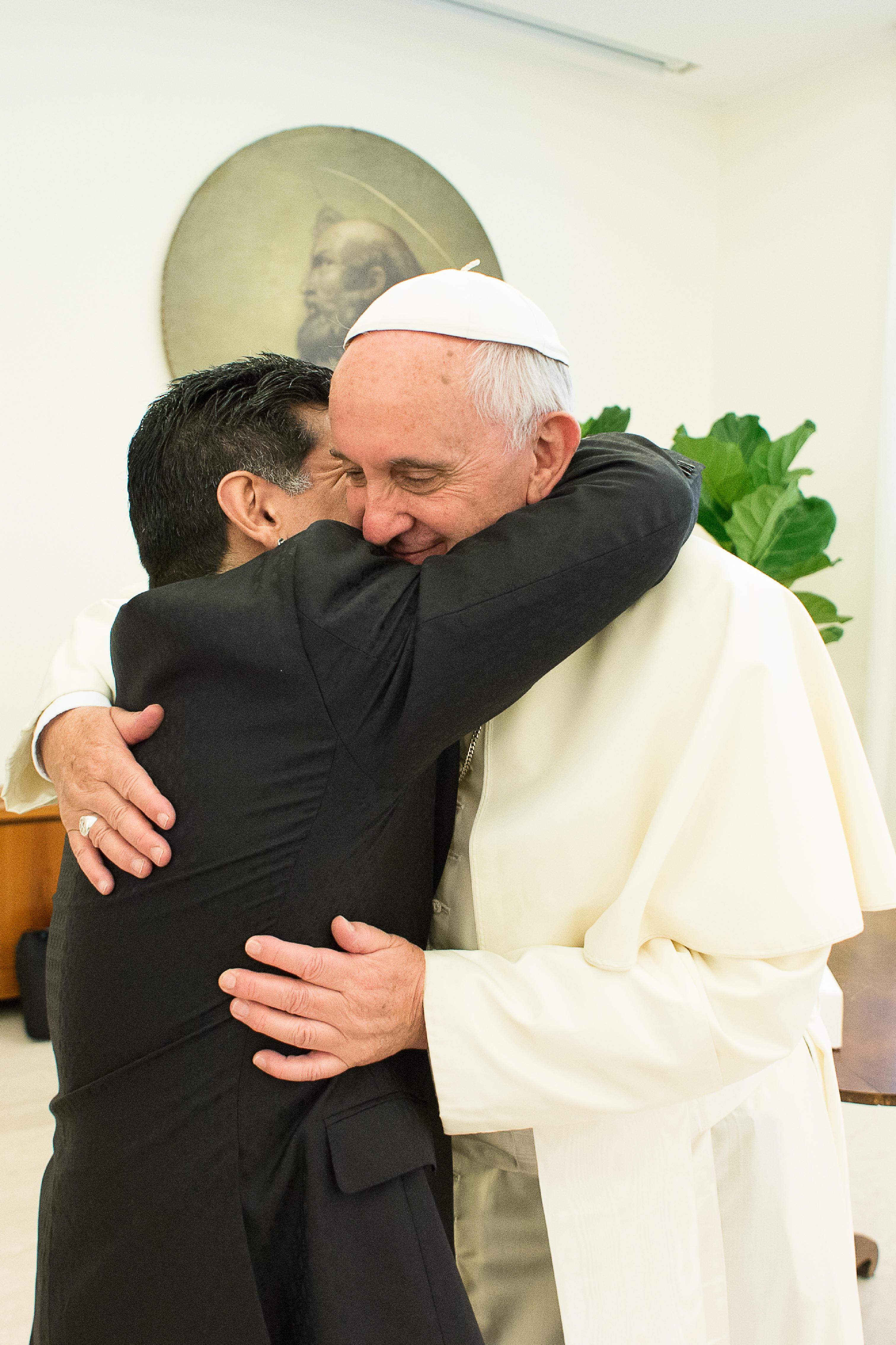 Maradona e Papa Francisco