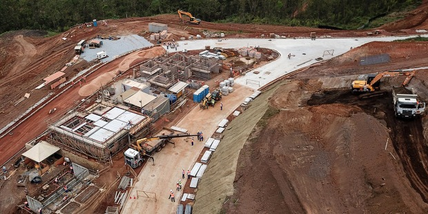 Represa de Fundao, sitio de la tragedia de Bento Rodrigues