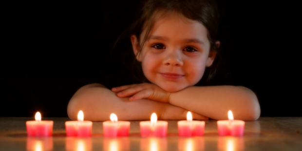 CHILD, GIRL, CANDLES