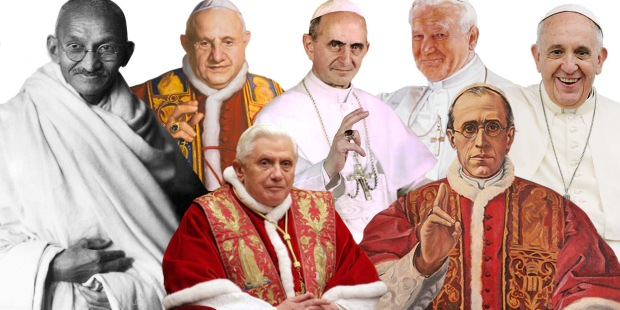 GANDHI+POPES