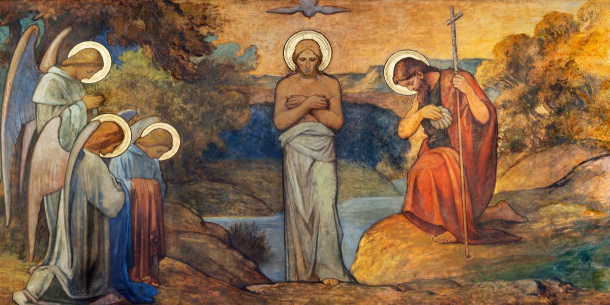 Le baptême du Christ.