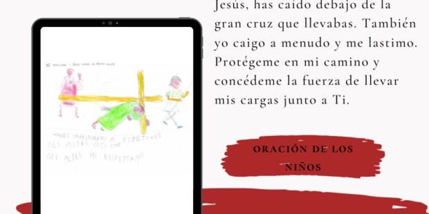 Dibujos del Via Crucis hecho por niños para el Papa