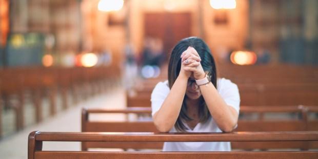 GIRL PRAYS,