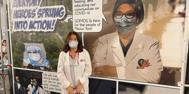 Doctora Denise Núñez, de la red de médicos SOMOS
