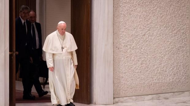 Pope Francis - Sad - walking - audience