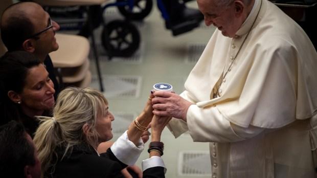 Pope Francis - blesses - faithful